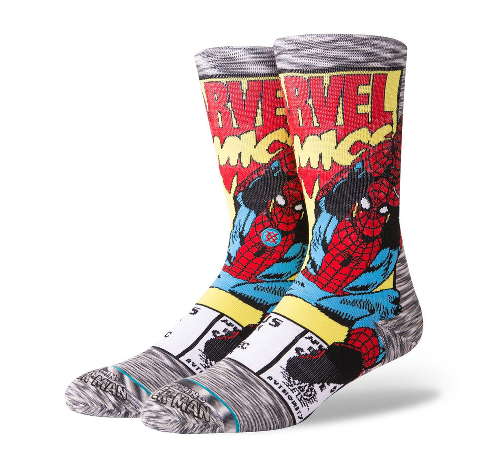 Stance Everyday Crew Men's Socks in Spiderman Comic