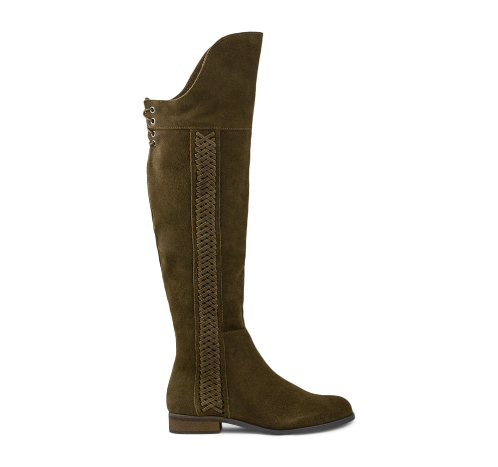Sbicca Spokane Tall Boot in Khaki - Sbicca - On The EDGE