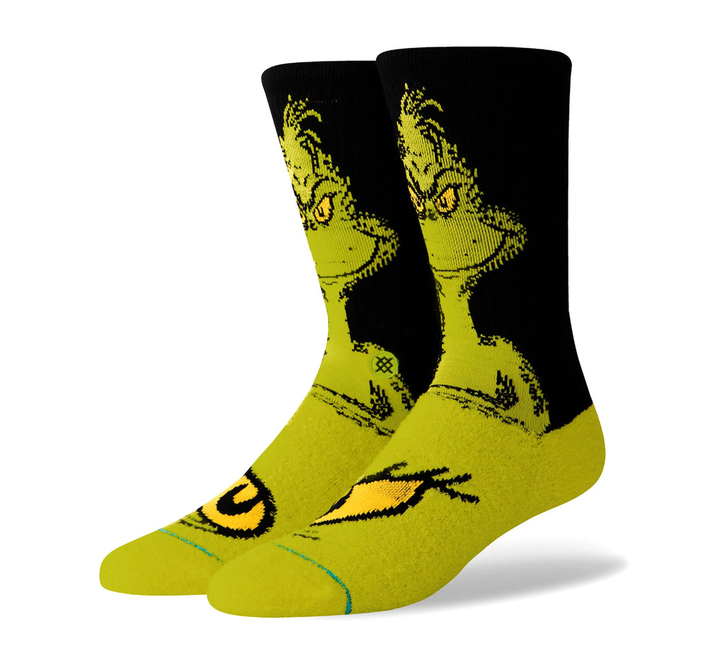 Stance Classic Crew Men's Socks in The Grinch - Stance - On The EDGE