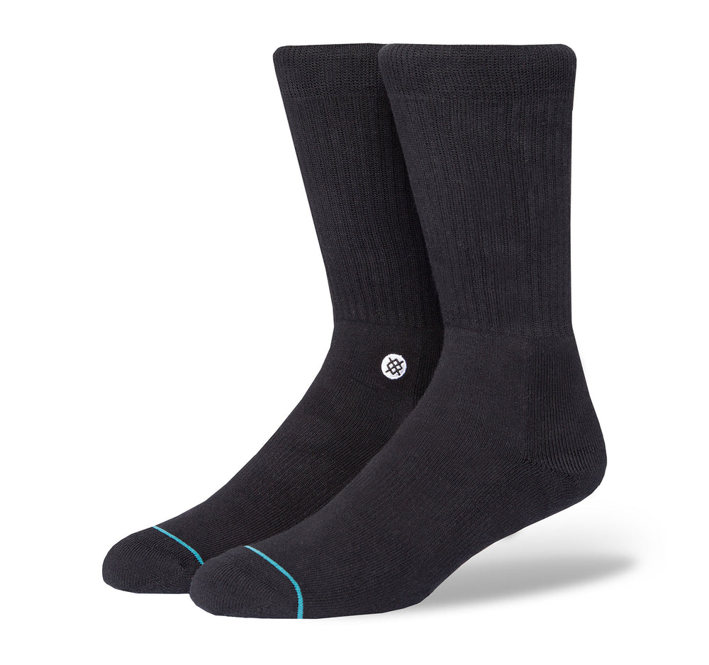 Stance Classic Crew Men's Socks in Icon Black and White - Stance - On The EDGE