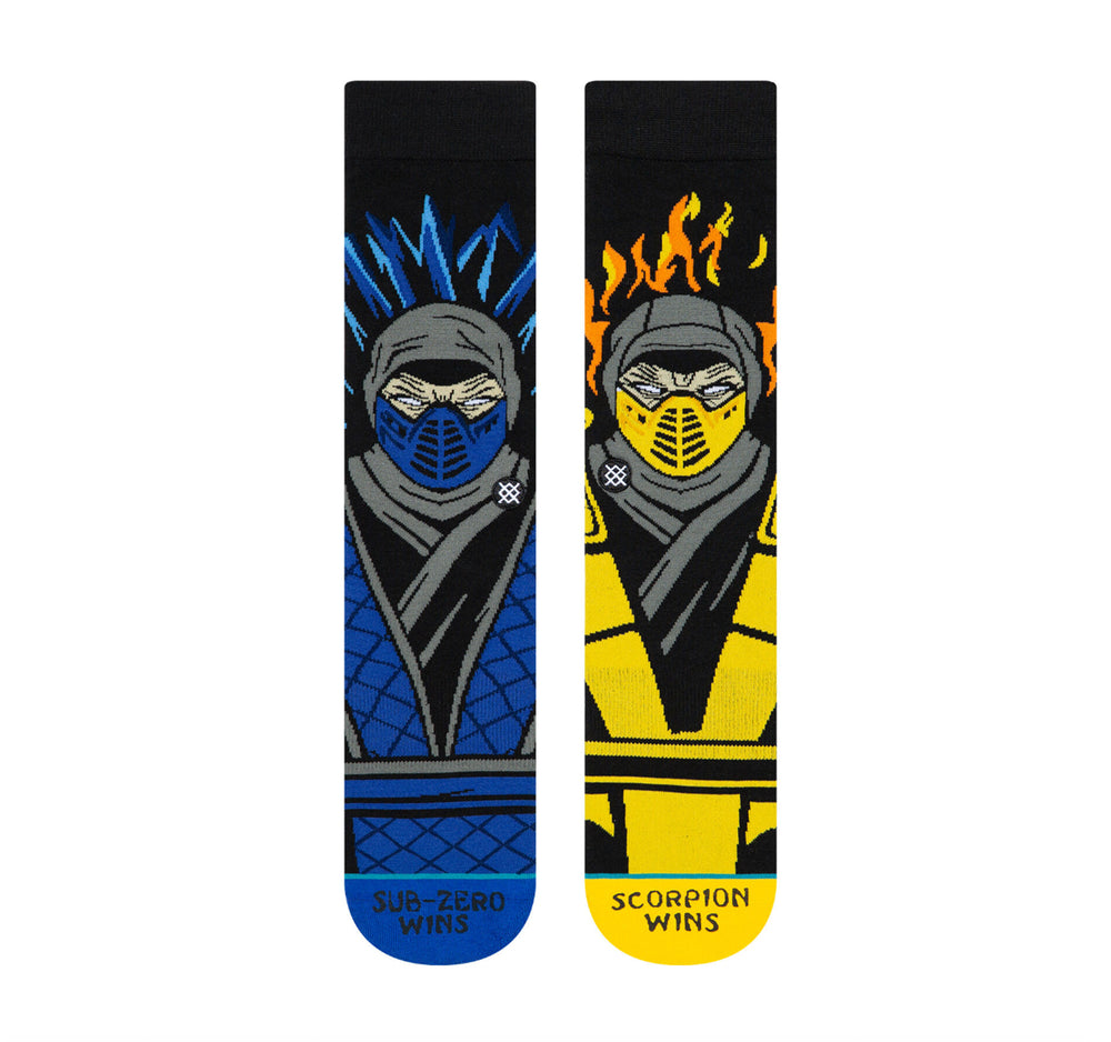 Stance Classic Crew Socks in Sub Zero VS Scorpion - Stance - On The EDGE