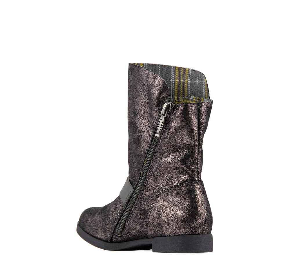 Blowfish Stassies Girls' Boot in Gunmetal - Blowfish Malibu - On The EDGE