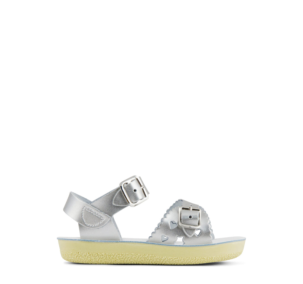 Salt Water Sweetheart Girls' Sandal in Silver