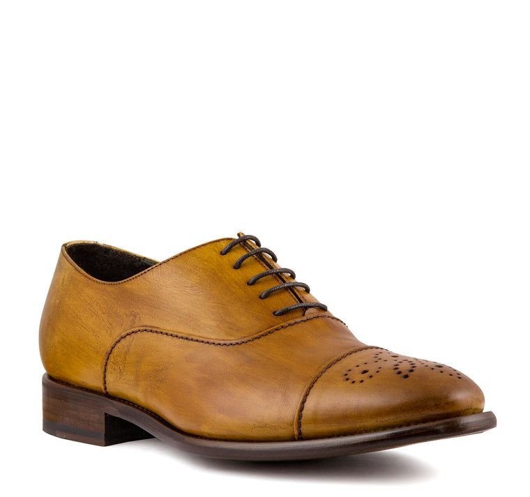 Calzoleria Toscana 2361 Oxford Men's - Caramel - Calzoleria Toscana - On The EDGE
