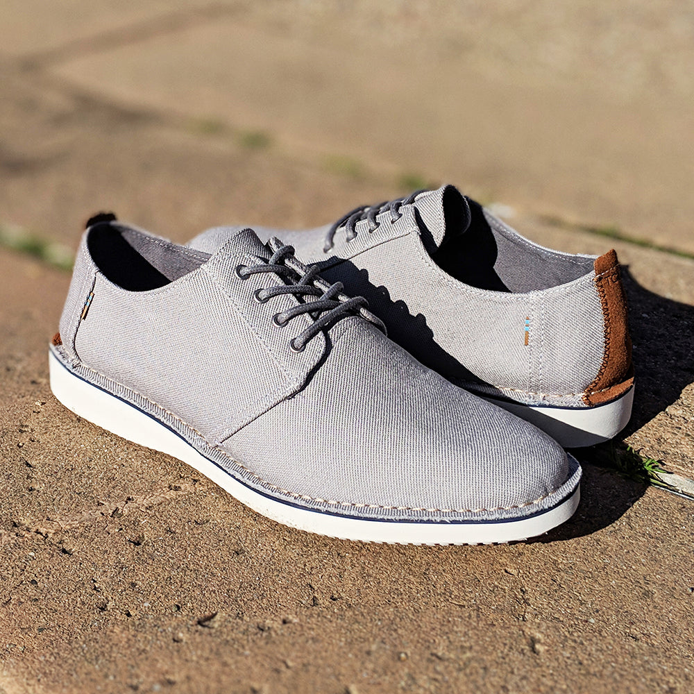 Toms Preston Men's Casual Oxford in Grey