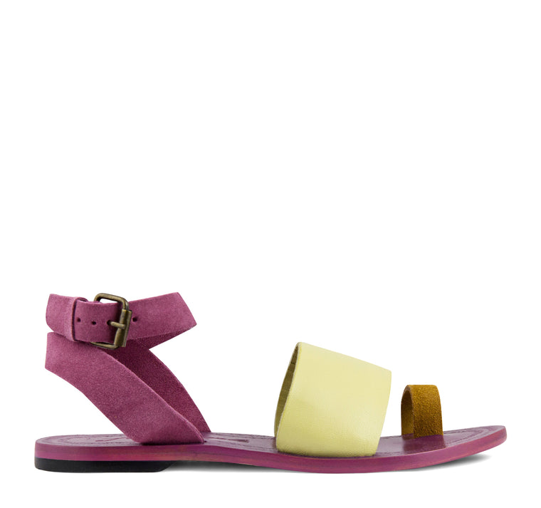 Free People Torrence Flat Sandal Women's - Pink Combo