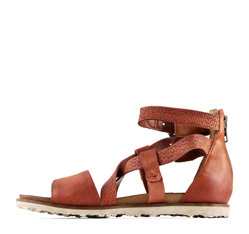 Miz Mooz Tucker Women's Sandal in Rust
