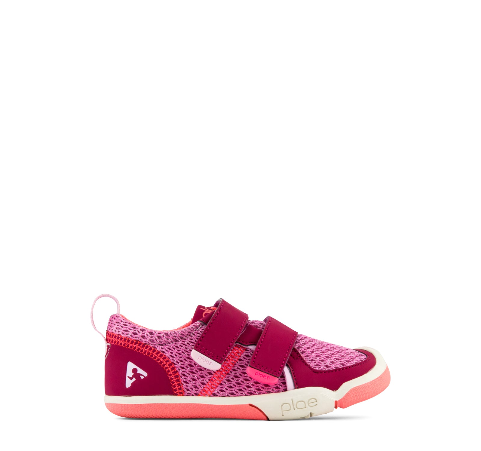 Plae Ty Girls' Sneaker in Hibiscus