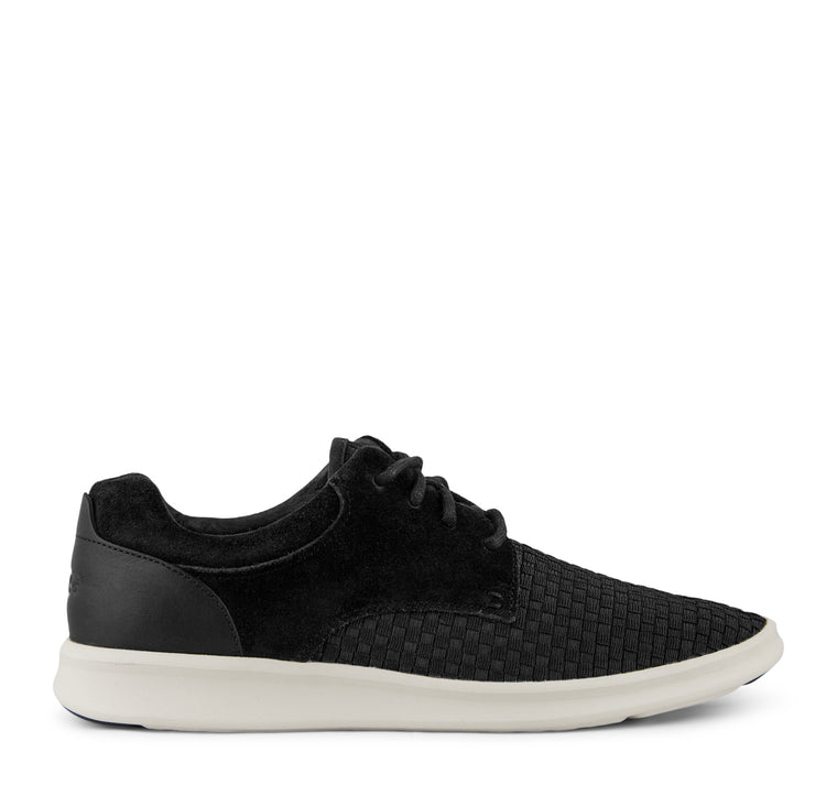 UGG Hepner Leather Woven Sneaker Men's - Black