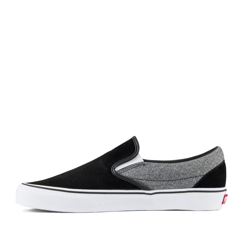 Vans Classic Slip-On Suede Sneaker in Suiting and Black - Vans - On The EDGE