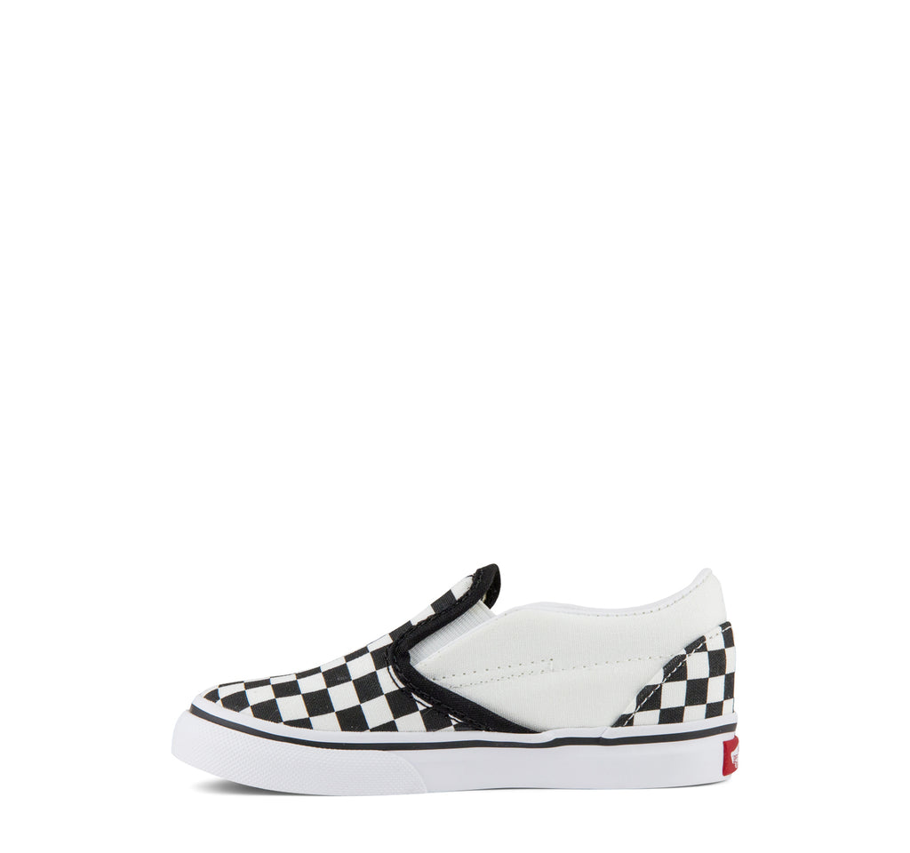 Vans Classic Slip-On Toddlers Sneaker Checkerboard in Black and White
