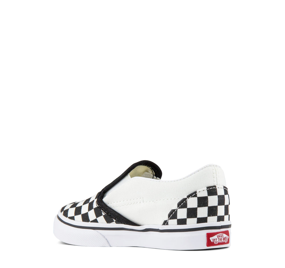 Vans Classic Slip-On Toddlers Sneaker Checkerboard in Black and White - Vans - On The EDGE