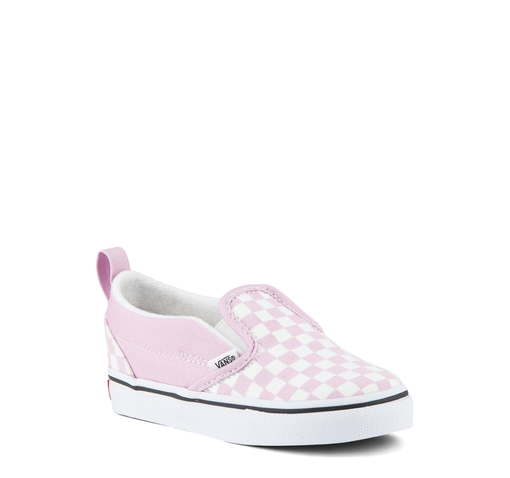 Vans Classic Slip-On V Toddlers Sneaker Checkerboard in Lilac Snow - Vans - On The EDGE