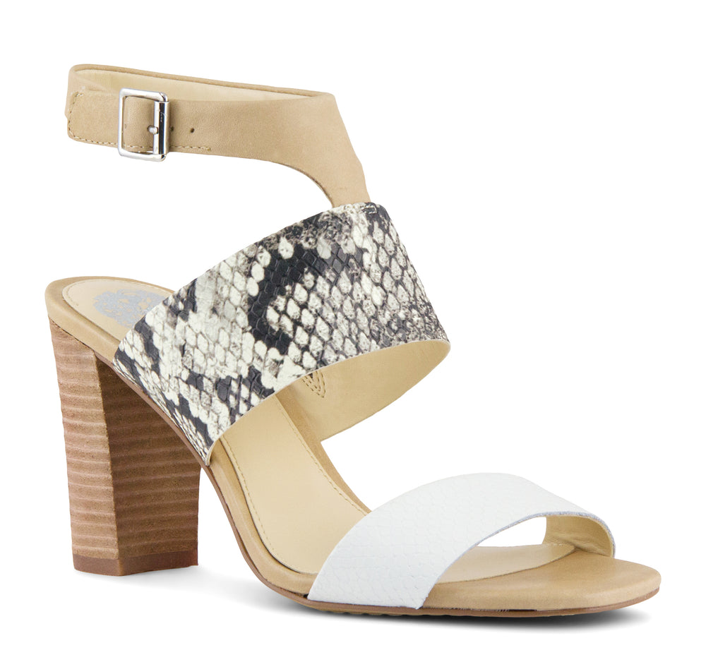 Vince Camuto Warma Sandal in Black and White - Vince Camuto - On The EDGE