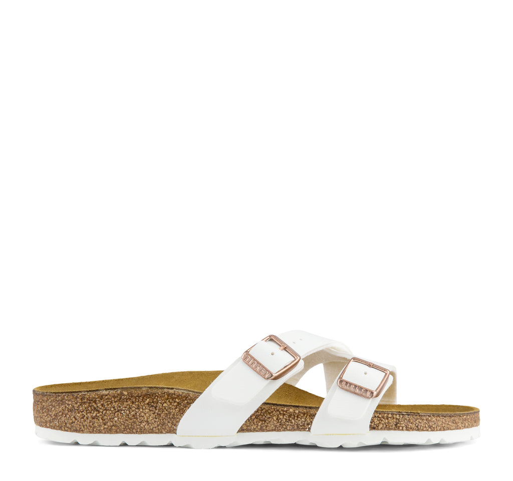Birkenstock Yao Birko-Flor Women's Sandal in White - Birkenstock - On The EDGE