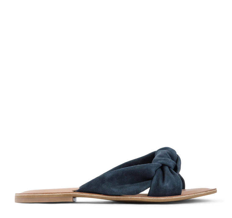 Jeffrey Campbell Zocalo Slide Sandal Women's - Navy Suede