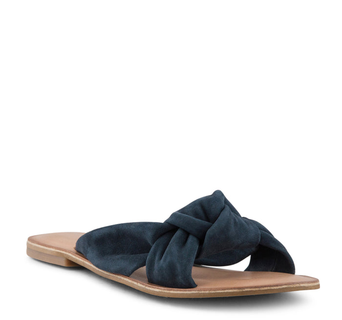 Jeffrey Campbell Zocalo Slide Women's Sandal in Navy Suede - Jeffrey Campbell - On The EDGE