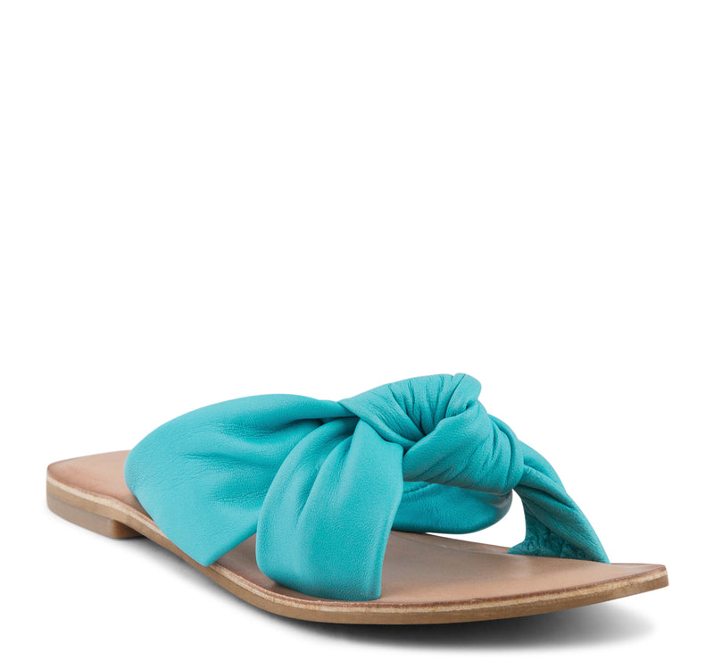 Jeffrey Campbell Zocalo Slide Women's Sandal in Teal - Jeffrey Campbell - On The EDGE