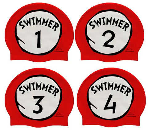 Swimmer 1, 2, 3 & 4 Relay Four Pack