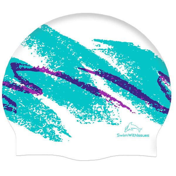 90s JAZZ CUP SWIM CAP