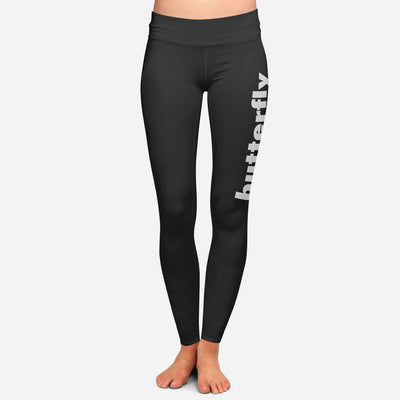 Black Stroke Leggings