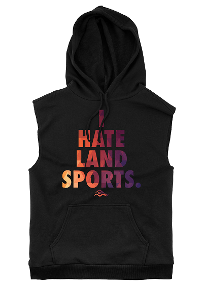 I Hate Land Sports Sleeveless Hoodie - SwimWithIssues Swim Shirts, Suits and t-shirts.