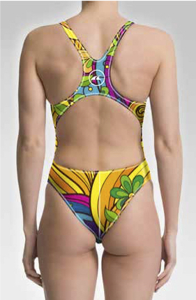 One Piece Spanish Flower Swimsuit