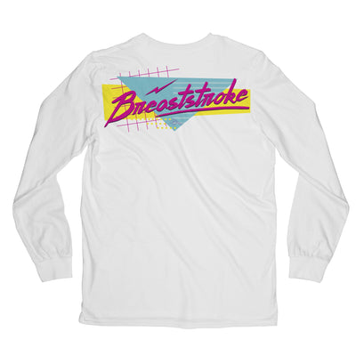 Retro 90s Stroke Tee - Long Sleeved - SwimWithIssues Swim Shirts, Suits and t-shirts.
