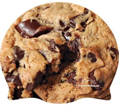 Chocolate Chip Cookie Silicone Swim Cap