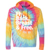 Fly, Back, Breast & Free Hooded T-Shirt - Tie Dye - SwimWithIssues Swim Shirts, Suits and t-shirts.