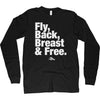 Fly & Back & Breast & Free Long Sleeve - SwimWithIssues Swim Shirts, Suits and t-shirts.