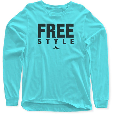 Freestyle Long Sleeves - SwimWithIssues Swim Shirts, Suits and t-shirts.