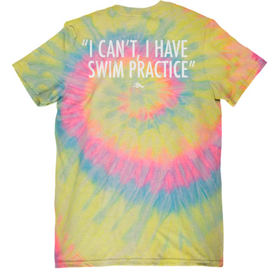 I Can't, I Have Swim Practice - Tie-Dye - SwimWithIssues Swim Shirts, Suits and t-shirts.