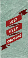 Just Keep Swimming Towel - SwimWithIssues Swim Shirts, Suits and t-shirts.
