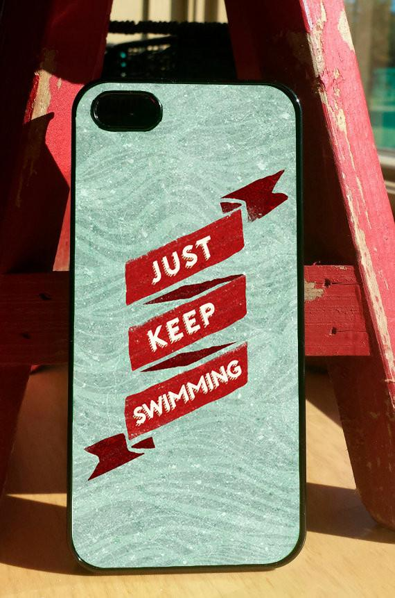 """Just Keep Swimming"" Phone Case"