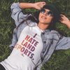 Retro I Hate Land Sports Tee - SwimWithIssues Swim Shirts, Suits and t-shirts.