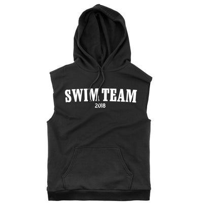 Swim Team 2018 Sleeveless Hoodie - SwimWithIssues Swim Shirts, Suits and t-shirts.