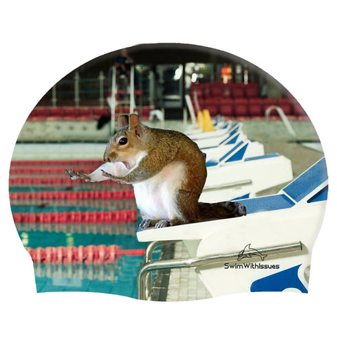 RELAY SQUIRREL SWIM CAP