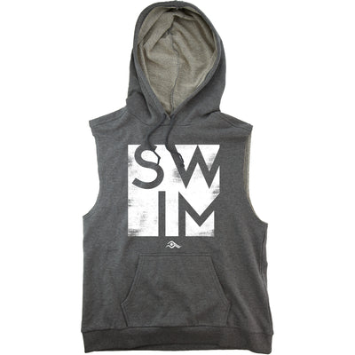 SWIM Block Sleeveless Hoodie - SwimWithIssues Swim Shirts, Suits and t-shirts.