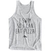 I Swim So I Can Eat Pizza Tank-Top - SwimWithIssues Swim Shirts, Suits and t-shirts.