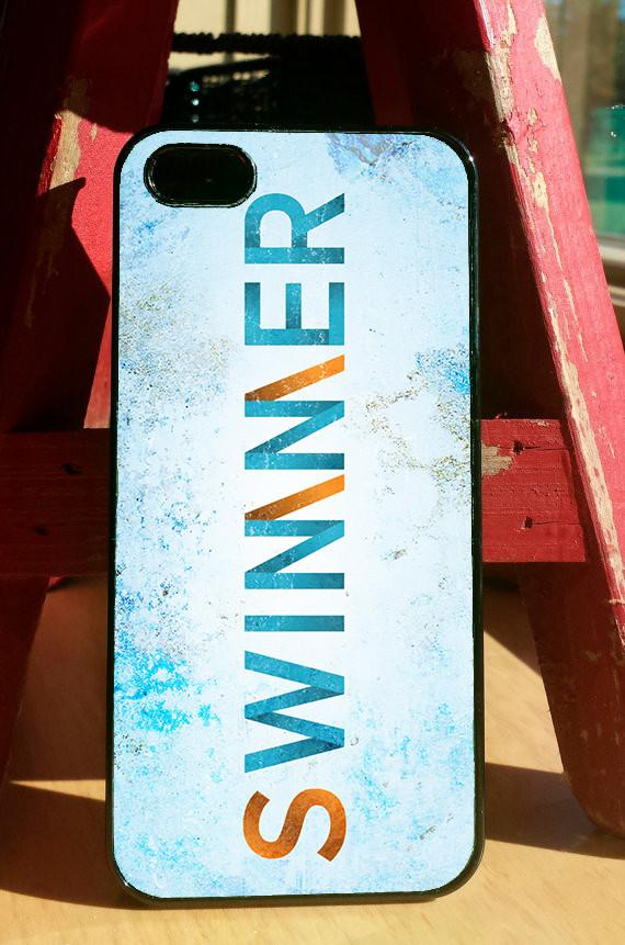 """Swimmer/Winner"" Phone Case"