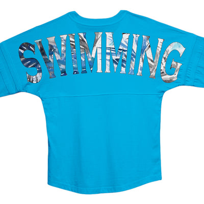 Ocean Blue Swim Jersey - SwimWithIssues Swim Shirts, Suits and t-shirts.