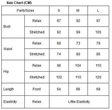 359a661cee   Lead Time till Delivery - 8 to 12 Business Days   Fabric  Polyester +  Spandex   Weight  190g   NB! Make Reference to Size Chart Below