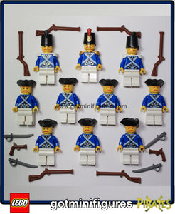 LEGO LT BLUE IMPERIAL ARMY 2 minifigures LOT of 10 Brand New