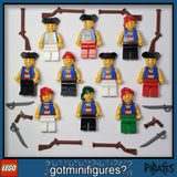 NEW LEGO BLUE PIRATES ARMY 10x minifigures guns figure people LOT #B
