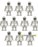 LEGO SKELETONS Army (plain) lot minifigures x10