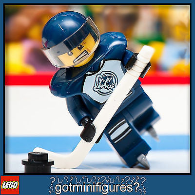 NEW LEGO Ice Hockey Player minifig NHL GUY People 8804 skates stick puck visor