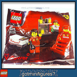 LEGO Ferrari SHELL F1 TEAM Pit Crew minifigures RARE polybag 30196 minifigs NEW