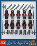 LEGO Lotr URUK HAI Army Warriors Lord of the Rings 10x minifigures  BRAND NEW