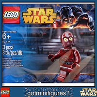LEGO Star Wars TC-4 minifigure red c3p0